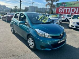 2012 Toyota Yaris NCP130R YR Blue 4 Speed Automatic Hatchback Lidcombe Auburn Area Preview