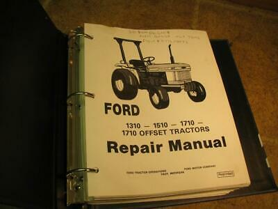 Ford 1310 1510 1710 Offset 1710 Tractor Service Repair Manual