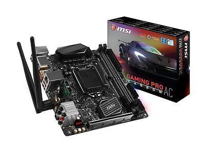 MSI Z270I GAMING PRO CARBON AC LGA 1151 Intel Z270 HDMI SATA 6Gb/s USB 3.1 Mini