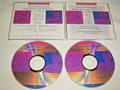 2 CD Gesprächskonzert Helmuth Rilling 1999 J.S.Bach Die Passionen nach Johannes