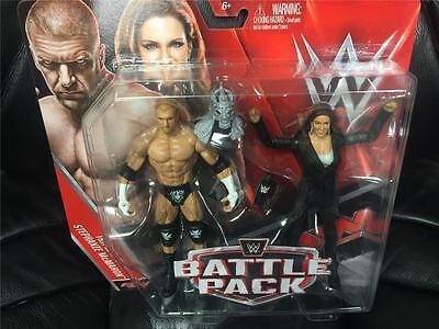 Triple H   Stephanie Mcmahon Wwe Mattel Battle Pack Series 42 2 Pack Figure