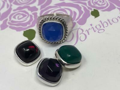 1 Brighton Color Clique hammered   Ring with 4 stones to change  size 9