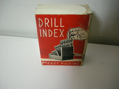 Vintage Hout No. 72 Drill Index For Wire Gauge Drills And Machine Screw Taps