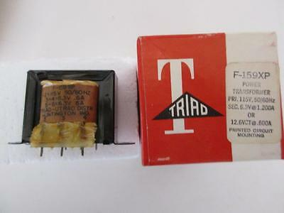 Triad Power Transformer F-159xp Sec 6.3 Or 12.6v Ct .6 1.20amp Primary 115vac Pc