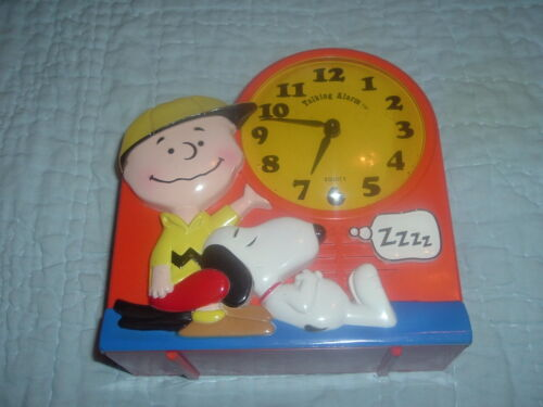Collectible 1974 Janex Charlie Brown Snoopy Talking Alarm Clock,TicsTalks.