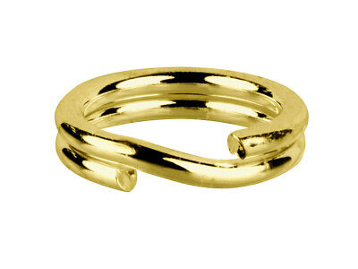 - Base Metal 4.5mm Brass Split Rings (10) Charm Links keyring attach charms- FS745