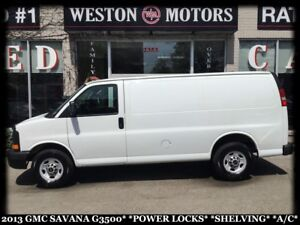 2013 GMC Savana 3500 POWER LOCKS*SHELVING*A/C*