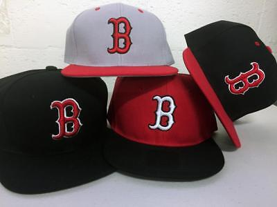 Boston Red Sox Flat Bill Hats (Boston Red Sox Snap Back Cap Hat Embroidered Men Adjustable Flat Bill )
