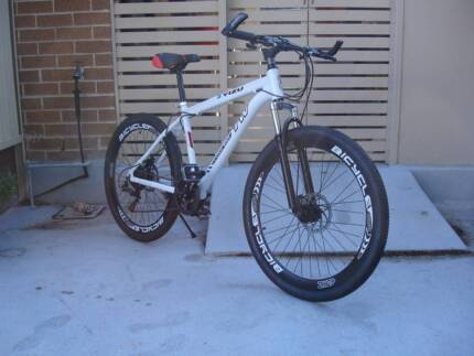 White Aluminium Mountain Bike