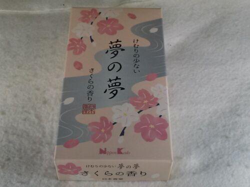 "Japanese incense stick sakura scent ""Yume no yume"" 100g Nippon Kodo"