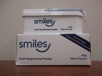 SMILES Teeth Brightening Powder    40g Mint Flavour   6 Months Supply