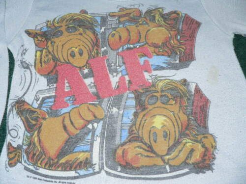 Vtg 80s 1988 ALF TV SHOW T-SHIRT ALIEN YOUTH Kid