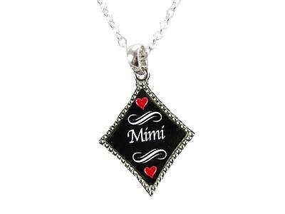 Mimi Grandma Grandmother Silver Chain Necklace Diamond Charm Jewelry Jewelry Silver Diamond Charm Necklace