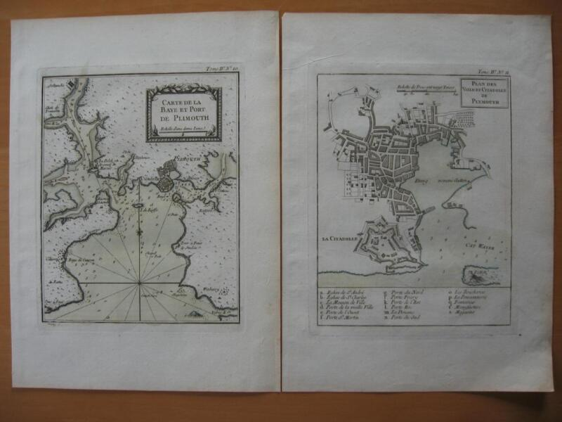 1764 - BELLIN - Two maps PLYMOUTH