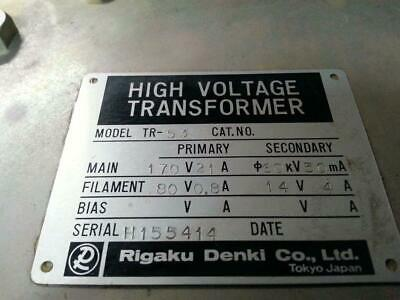 Rigaku Tr-53 High Voltage Transformer