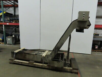 Incline Chip Conveyor Coolant Recovery 12 Belt 17x16 Infeed 49 Discharge 3ph