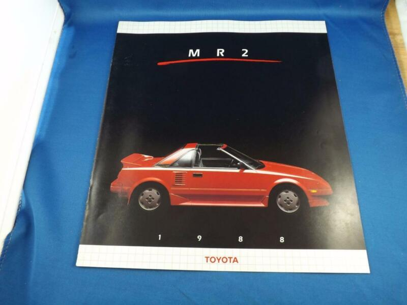 1988 TOYOTA MR2 CAR AUTO SALES BROCHURE FEATURES SPECIFICATIONS