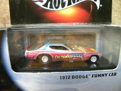 1972 DODGE FUNNY CAR     2000 HOT WHEELS BLACK BOX   1:64 DIE-CAST  RUBBER TIRES