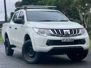 2016 Mitsubishi Triton MQ MY16 GLX Double Cab White 5 Speed Sports Automatic Utility Lansvale Liverpool Area Preview