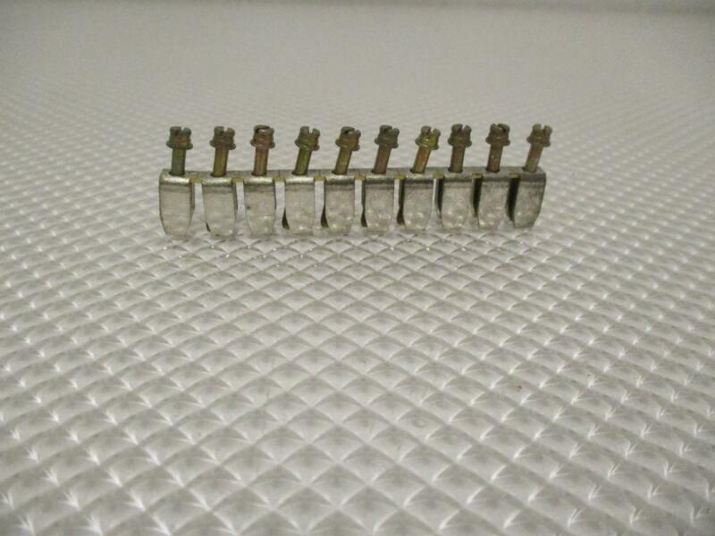 ONE NEW  LOT OF 15 CONNECT JUMPER BARS 10 POLE.