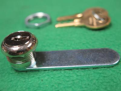 34 Chrome Plated Key Keyed Cylinder Drawer File Cabinet Door Tumbler Cam Lock