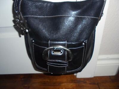 womens B. Makowsky black leather handbag purse beautiful condition-low fast ship