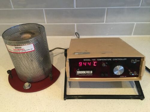 As Is Brookfield 74R Viscometer Temperature Controller / Thermosel Heat Chamber