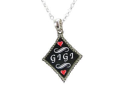 Gigi Grandma Grandmother Silver Chain Necklace Diamond Charm Jewelry Jewelry Silver Diamond Charm Necklace