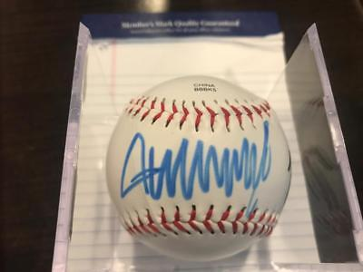 Donald Trump And Mike Pence Autographed Baseball Signed With Coa