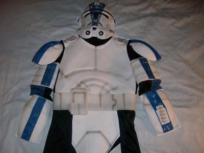 501st Clone Trooper Belt Mask Star Wars Halloween 2008 Boys Medium - 501 Clone Trooper Kostüm