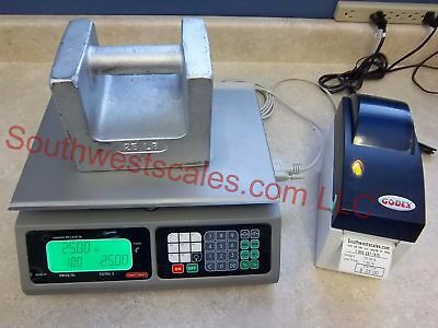 Torrey Lpc40l Price Computing Scale W Godex Dt2 Label Printer Tor Rey