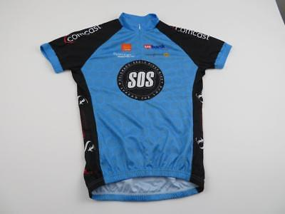 Peak 1 Womens Blue SOS Colorado Eagle River Cycling Bike Jersey Sz Medium  Shirt 0038ad763