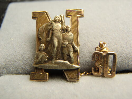 Vintage Fraternal Nu Pin 2.6 Grams 10K Solid Yellow Gold 30s Rare Lot 1313