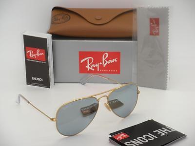Ray-Ban Aviator RB 3025 112/W3 58mm Matte Gold Polarized Dark Grey (Dark Grey Mirror)