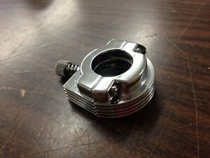 SINGLE CABLE CHROME THROTTLE CLAMP ASSEMBLY FOR 1973-1980 HARLEY DAVIDSON MODELS
