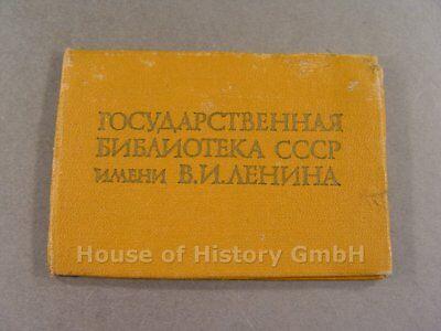 103019, Mitgliedsausweis eines Mannes der staatlichen Lenin Bibliothek 1978