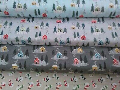 Lewis & Irene 100% Cotton Patchwork  Fat Quarter, Snow Day, Christmas