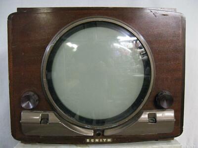 """ZENITH Porthole TV - 12"""" CRT- Claridge 28T926R- 1949 Great Shape with Photofact*"""