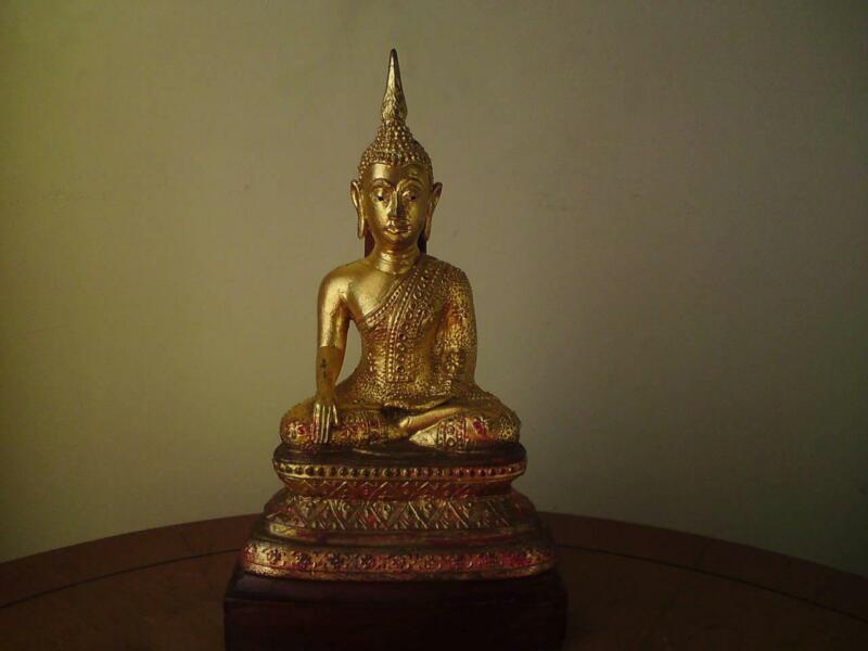 Thai Gilt Bronze Seated Shakyamuni Buddha Bangkok Period
