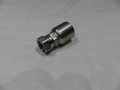 Parker Stainless Steel Hose Fitting Femal Jic Straight 37 Deg To 1 10643-16-16c