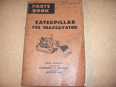 Caterpillar 955 Traxcavator Crawler Tractor Parts Manual
