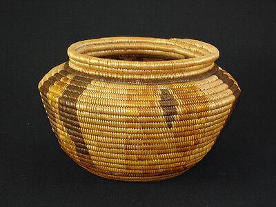 A California polychrome Chemehuevi basket, Native American Indian, circa: 1910