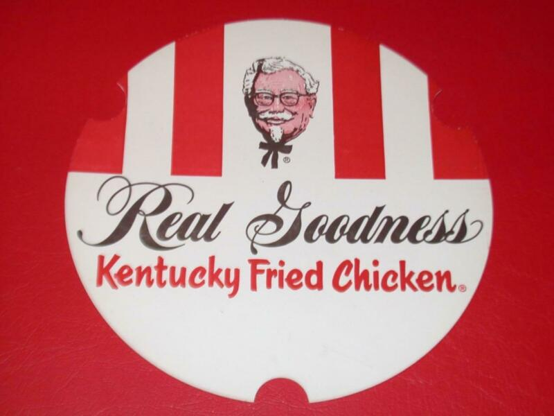 VINTAGE 1969 KENTUCKY FRIED CHICKEN Bucket LID ONLY old Store Stock NOS Unused !