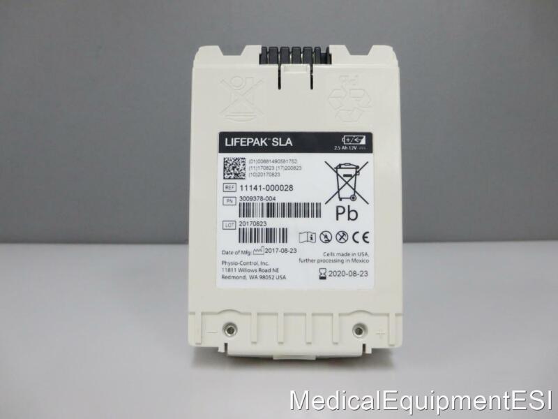 Physio-Control 11141-000028 LIFEPAK 12 SLA Battery 2020 with Warranty