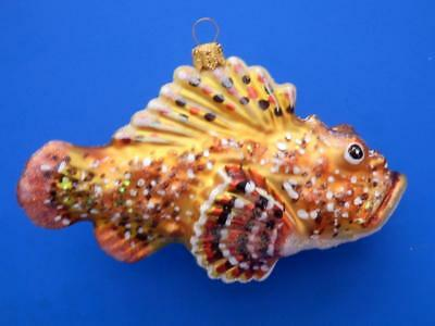 SPOTTED SCORPION FISH EUROPEAN BLOWN GLASS CHRISTMAS TREE ORNAMENT OCEAN LIFE (Scorpio Spot)