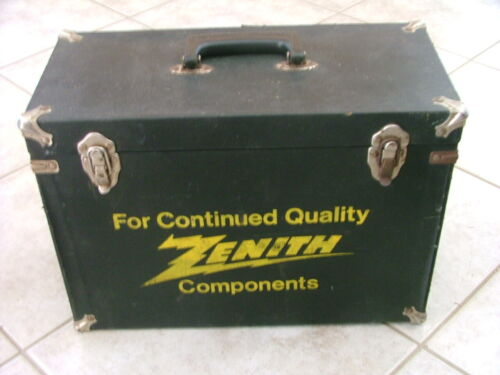 Zenith Components Carrying Case Television Radio Tubes Parts Service
