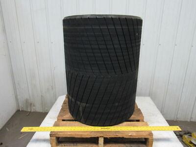 Steel Conveyor Crowned Pulley Drum Roller 24dx32 Wrubber Herringbone Lagging