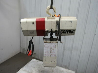 Coffing 4016 7 2 Ton Electric Chain Hoist 208v 3ph 60hz 15 Lift 16 Fpm Tested