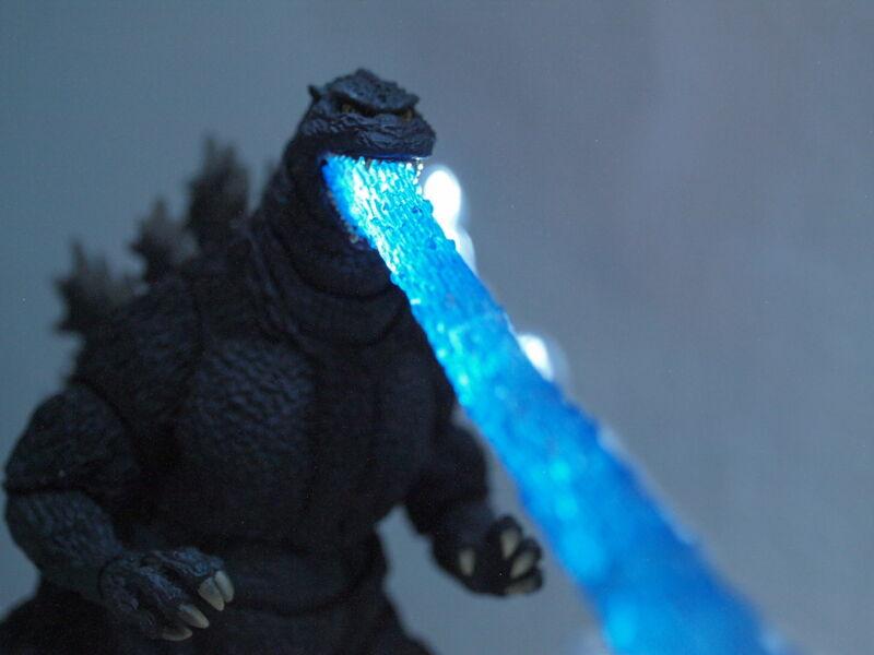 S.H. Monsterarts Godzilla 1995 Custom Blue Atomic Breath Effect Piece