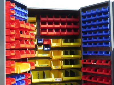 Parts Hardware Steel Hanging Plasic Bin Storage Cabinet 2 Door 72 X 48 X 24